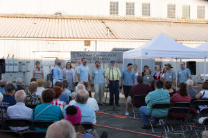 Dead Reckoners, from the Puget Sound Revels, performing sea shanteys at TCBB's July 1 event. Photo credit Martin Christoffel.