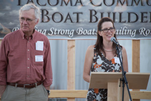 Founder and Chairman Paul Birkey and Executive Executive Shannon Shea at TCBB's July 1 event. Photo credit Martin Christoffel.