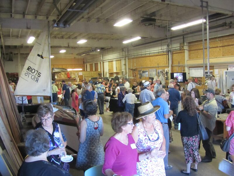 Our July 1 event - Promises Made. Promises Kept: A Fundraising Event - at the TCBB boatshop. Photo credit Dorene DeMars.